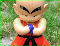 Free Shipping Japanese Anime Cartoon Dragon Ball Action Figures Toys Kuririn 20cm Tall PVC Doll Model Collection Christmas Gift