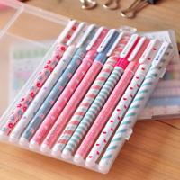 The appendtiff stationery small fresh water color pen multicolour unisex pen 10 set 0.38mm