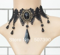 Hot Selling  Wholesale Black Rhinestone  sexy Lace Necklace necklaces bridal dress accessories  Wedding decoration Free Shipping