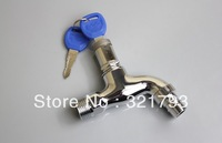 Free shipping!brass outdoor washing machine faucet,single handle for cool water