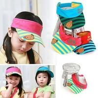 Bear baby child visor hat summer sun hat sunbonnet bonnet cap (5pieces/lot)
