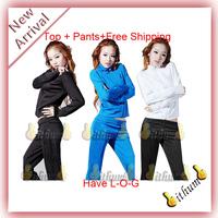 2013 New brand Unisex Suits SportsWear women long-sleeve tracksuit sport suit lesure jacket+pants set uniforms