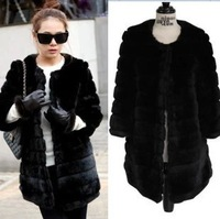 Vivi magazine faux fur thickening fur coat medium-long long-sleeve overcoat outerwear