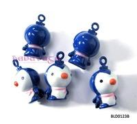Lovely Penguin Bell Pendant Charms Fit Bracelet Free shipping