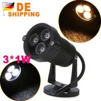 DE Stock To DE Hot Sale IP67 220V 3W White LED Lawn Light Garden Lamp Outdoor Spotlight Bulb DHL Free Shipping 2Pcs Wholesale