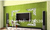 Free shipping!Acrylic 3D mirror wall stickers fashion home decoration wall stickers tv background wall ceiling  decoration
