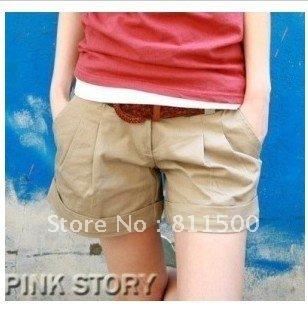 Hot sale korea high street fashion summer cotton shorts casual plus