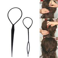 Scolour Set of 2 Pcs Fashion Topsy Tail Hair Braid Pony Tail Maker Styling Tool Salon Free shipping &wholesale