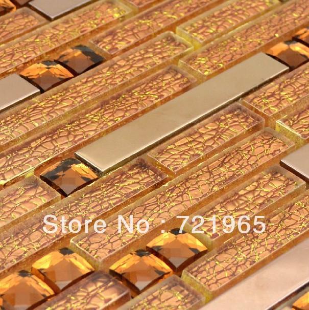 tile ssmt207 discount glass mosaic stainless steel tiles backsplash