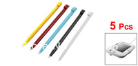 5 Pcs Assorted Color Plastic Stylus Touch Pen for Nintendo Wii U Gamepad