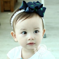 Wholesale children Knights printing ribbon bow baby hair jewelry hair bands photos essential