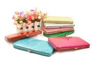 2013 Hot selling fashion fluorescent shiny women's wallet long candy color card holder evening bag