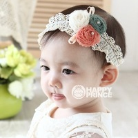 Wholesale with diamond lace flower headband baby children hair jewelry hair bands studio photos essential