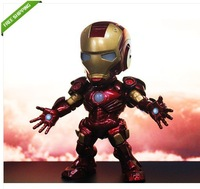 Free Shipping High Quality Cool ! IRON MAN MARK III Light-Emitting Function 13cm PVC Action Figure NIB