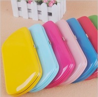 2013 popular candy color women's wallet small boxes fashion purse culth card holder wholesaler