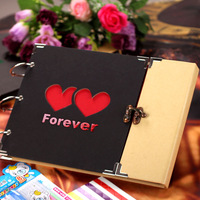 Forever gift cutout diy photo album lovers photo album paste type send 12  free gift