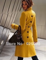,Free shipping Lady's coat,2013 Fashion designer Front and rear open buckle,slim cute trench coat women's overcoat,outerwear