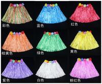 wholesale 10pcs/lot Free shipping Halloween performance wear hawaii hula skirt length 30 child hula skirt