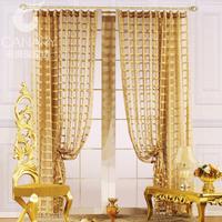 Gold fashion quality living room curtain gold circled screens balcony shalian