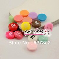 factory direct sell,60 pcs/lot,lovely resin M button,colors mixd,phone case DIY accessory decoration material,Free Shipping