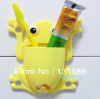Clean bathroom cartoon frog powerful suction toothbrush holder toothbrush holder toothbrush soap box daily household