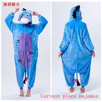 Free  shipping Excellent coral fleece sleepwear cartoon animal one piece sleepwear lovers xs  in stock