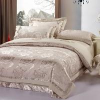 Queen bedding Rgxzr cotton quality big jacquard textile piece set cotton blending 4 wire gray tenderness  4pc