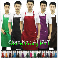 Men Working Wear Aprons Adjustable Polyester Aprons/12pcs (12 colors) /lot