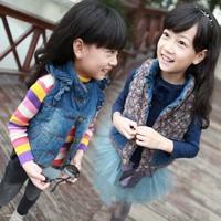 Female child vest spring and autumn 2013 autumn casual baby denim vest child vest