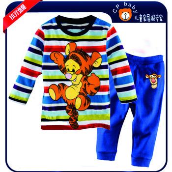 Baby Boys Girls Pajamas Clothing Sets Kids Blouse T-shirts Pants Pijama Clothes Set Child Winter Spring Casual Vestidos French