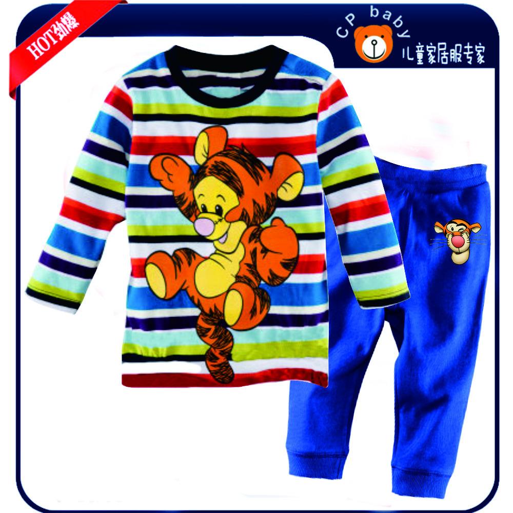 детский мультфильм тигр пижамы, комплекты, блузки