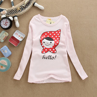 Wholesale! Free Shipping 2013 winter&Autumn New Style Children's Girl's Long Sleeve T-shirt Kid's Fashion T-Shirts (mixed)