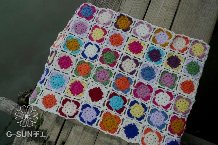 Manta de crochê mão, Diy handmade flor de crochê tapete tapetes cobertor verão fio bebê cobertor tapete(China (Mainland))
