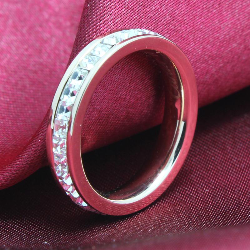 6 accessories series of diamond ring diamond ring sparkling quality titanium rose gold ring