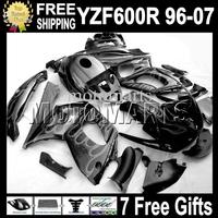 Grey flames black 7gifts&Tank 96-07 Body For YAMAYA YZF600R  96 97 98 99 YZF 600R 00 01 02 03 MT61 YZF-600R 04 05 06 07 Fairing
