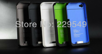 [ Hot Selling ] For iPhone 4 4S 1900mAH External Rechargeable Backup Battery Charger Case Cover  Free Shipping