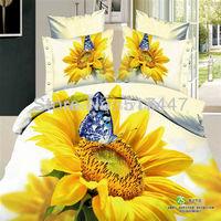 Постельные принадлежности Beautiful flower bedding set 4pc for queen size luxury duvet doona quilt cover bedsheets comforters bedspreads printed for girls