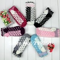Hot Sale ,Free shipping,New women's Knitted Gloves Warm Winter Spell color bow girl's gloves 7 colors,A309