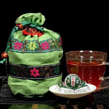 Green organic food Chinese tea, Premium Pu'er ripe tea leaves 50 piece, 220g. Yunnan Pu'er tea!#pr037