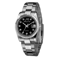 Monyoung fully-automatic mechanical watch stainless steel quality waterproof luminous mens watch