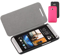 4 Color Doormoon, case for HTC one (M7) 801e, left open leather case mobile phone case, high quality, low price, Free shipping