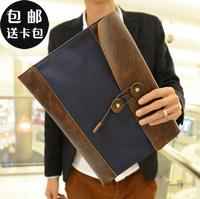 2013 male bag man commercial envelope day clutch file bag vintage briefcase