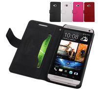 Doormoon, case for HTC one (M7) 801e,leather case mobile phone case, high quality, low price, Free shipping