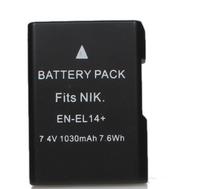 """Fully Decoded """"1030mAh"""" EN-EL14+ Li-ion Battery for Nikon D3100 / 3200 / D5100 / P7000 + More"""