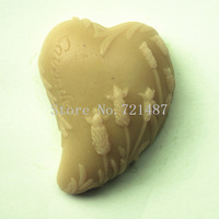 wholesale free shipping Heart-shaped lavender  (QY135)  Soap mold Soft New Shape Cute DIY Silicone Cake Mold