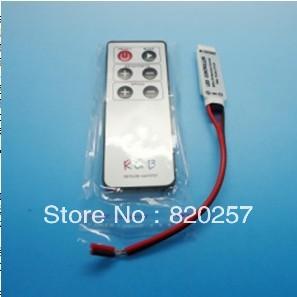 free shipping 5pcs lot 6key mini RGB controller with IR remote control DC12V(China (Mainland))