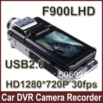 Car DVR Recorder F900LHD HD 1280*720P 30fps 2.5'' LCD(4:3) USB2.0 Night Vision Loop Recording Motion Detection by Sweden Post