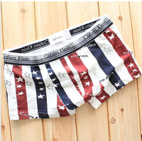sports casual 5pcs/lot Classic 100% cotton cartoon panties Men's Boxers briefs panties four angle men underwear free shipping