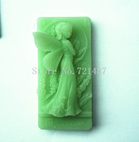 wholesale free shipping Elegant fairy  (QY133)  Soap mold Soft New Shape Cute DIY Silicone Cake Mold