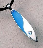 Surfboard Yin Yang Surf Board Pewter Pendant w Choker